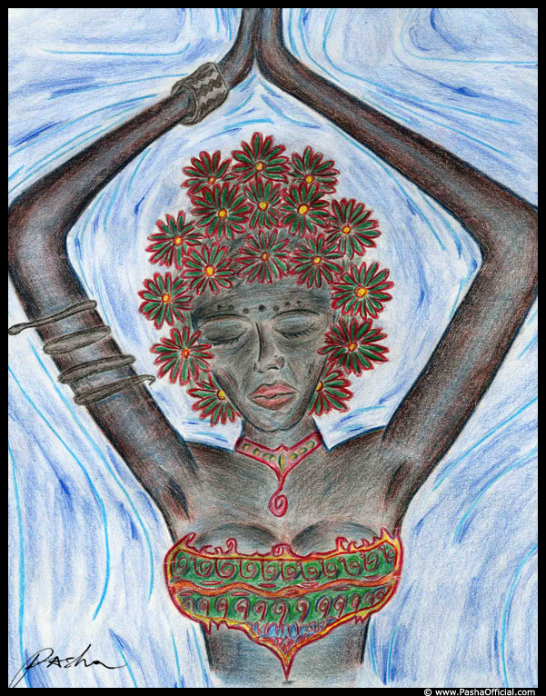 indigo dancer drawing by Pasha 2