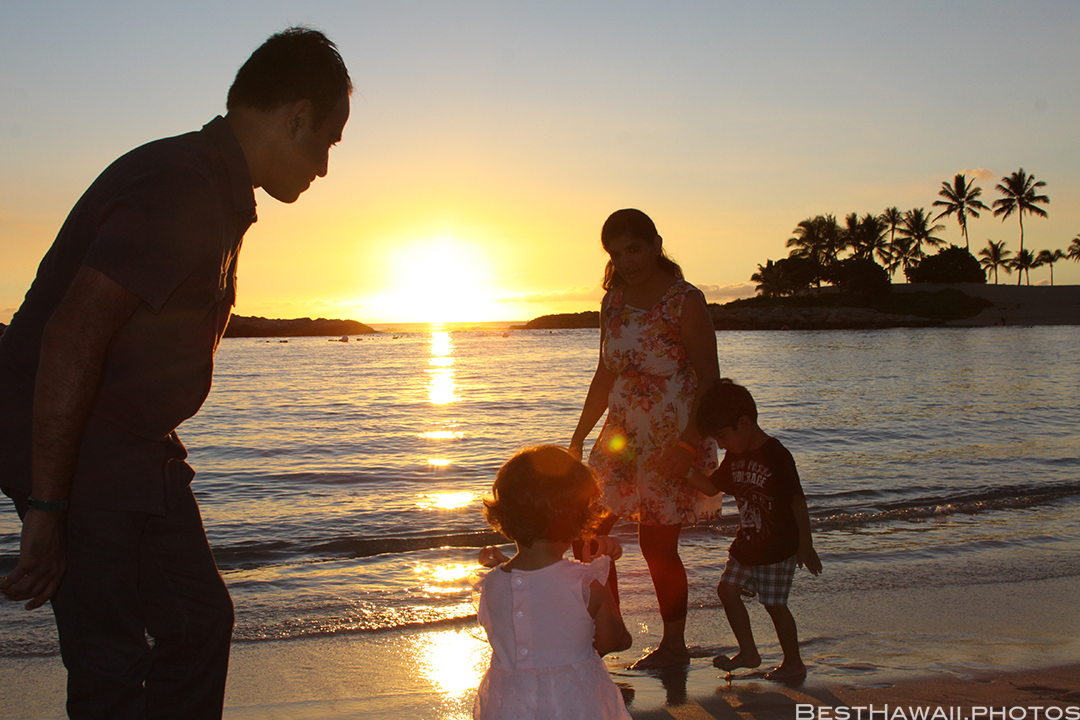 Aulani Disney Resort Hawaii beach Sunset Family by BestHawaii.photos 2015_09082015_7153
